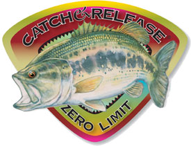 Catch & Release 2005 LargeMouth Bass Decal